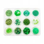 Nail art kit, 12 pieces – green