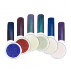 Nail art powder - Kit of coloured mirror powders no.1