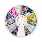 Nail art decorations – round rhinestones 1,5mm – various colours