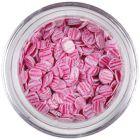 Light pink sequins - pink stripes