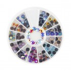 Nail art decorations – stones 3mm – various colours with AB effect