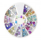 Nail art decorations - stones 4 mm - rainbow effect
