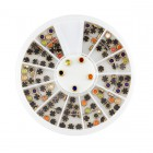 Nail art decorations – round stones 3mm - metal frame
