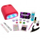Set for gel nails – Christel Delux with a 36W red lamp