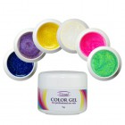 Colour gel set 6pcs - glitter