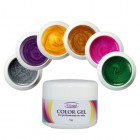 Pearlescent set of UV gels 6pcs