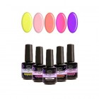 Kit of 5 high-quality gel nail polishes 2in1 - pearlescent