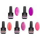 UV gel polish - 5pcs kit - glittering