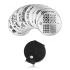 Set of 10pcs of stamping templates and case for stamping nail plates