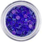 Flitters - violet-blue, purple stripes
