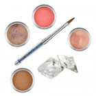 Natural glitter kit - Coloured acrylic kit of acrylic powders for nail art