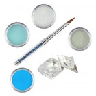 Blue-Green kit - Coloured acrylic kit of acrylic powders for nail art