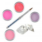 Pink kit - Coloured acrylic kit of acrylic powders for nail art