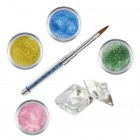 Shimmer I kit - Coloured acrylic kit of acrylic powders for nail art
