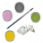 Pure II kit - Coloured acrylic kit of acrylic powders for nail art