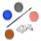 Pure I kit - Coloured acrylic kit of acrylic powders for nail art