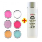 Mix Colour set 6pcs + Acryl Liquid 100ml FREE