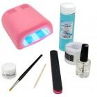 1-phase UV gel system – BASIC set, 36W pink UV lamp