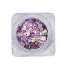 Nail decorations – hexagon – dark purple