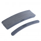 10pcs - Nail file, grey banana design with black centre, washable and disinfectant friendly 80/80