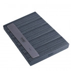 50pcs - Nail file, grey rectangle with black centre, washable and disinfectant friendly 80/80