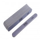 10pcs - Nail file, grey board with black centre, washable and desinfectant friendly 280/280
