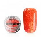 Decorative nail powder, Neon Glow Glitter, 02 – Dark Pink, 3g