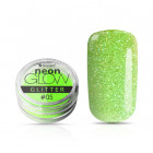Decorative powder, Neon Glow Glitter, 05 -  Green, 3g