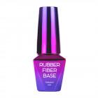 UV/LED modeling gel polish, Rubber Fiber Base - Silky Shimmer, 10ml