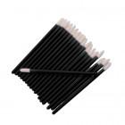 Velour applicator for eyes and eyelashes - black, 50pcs