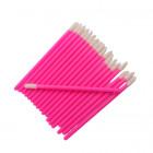 Velour applicator for eyes and eyelashes - pink, 50pcs