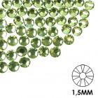 Decorative nail stones - 1,5 mm - green, 50 pcs