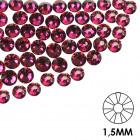 Decorative nail stones - 1,5 mm - cyclamen pink, 50 pcs