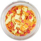 Randomly shaped confetti flakes - yellow, orange, red