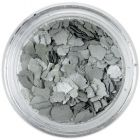 Randomly shaped confetti flakes - silver