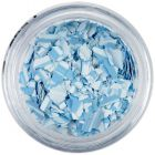 Randomly shaped confetti flakes - light blue with stripes