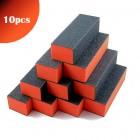 10pcs - Triple-sided orange and black block for nails 100/100