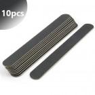 10pcs - Professional nail file, slim black 80/80