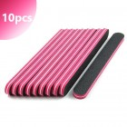 10pcs - Professional straight nail file, with red centre 80/80