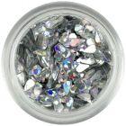Teardrops - silver, hologram