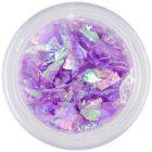 Violet glitter flakes - nail art