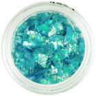 Glitters for nails, bright blue colour