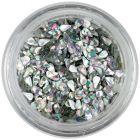 Teardrop confetti - silver, hologram
