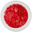 Decorative, Red Triangles with Hole