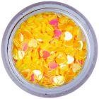 Nail art confetti - gold-yellow hearts