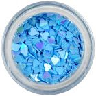 Nail art confetti - blue hearts
