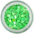 Nail spangles - green hearts