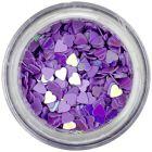 Nail spangles - light purple hearts
