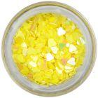Nail art confetti - yellow hearts