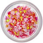 Nail art fabric confetti - red hearts